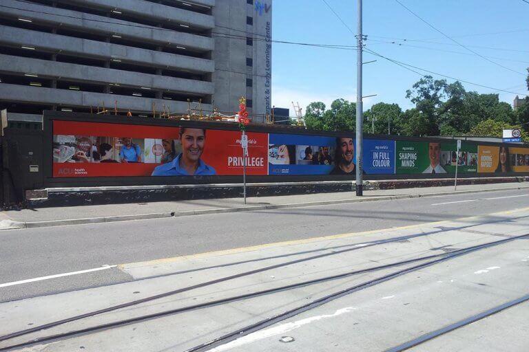 PVC Mesh Hoarding Banner