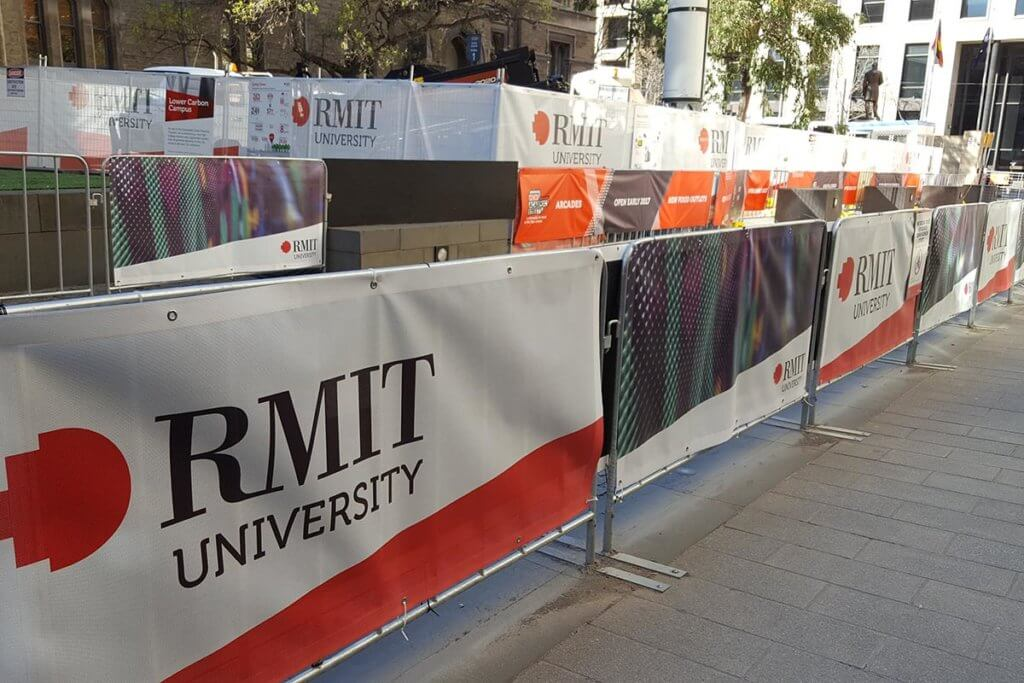 RMIT University Banner Mesh