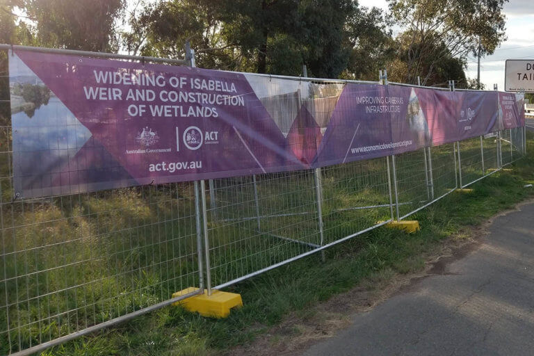 ACT Government Printed Banner Mesh