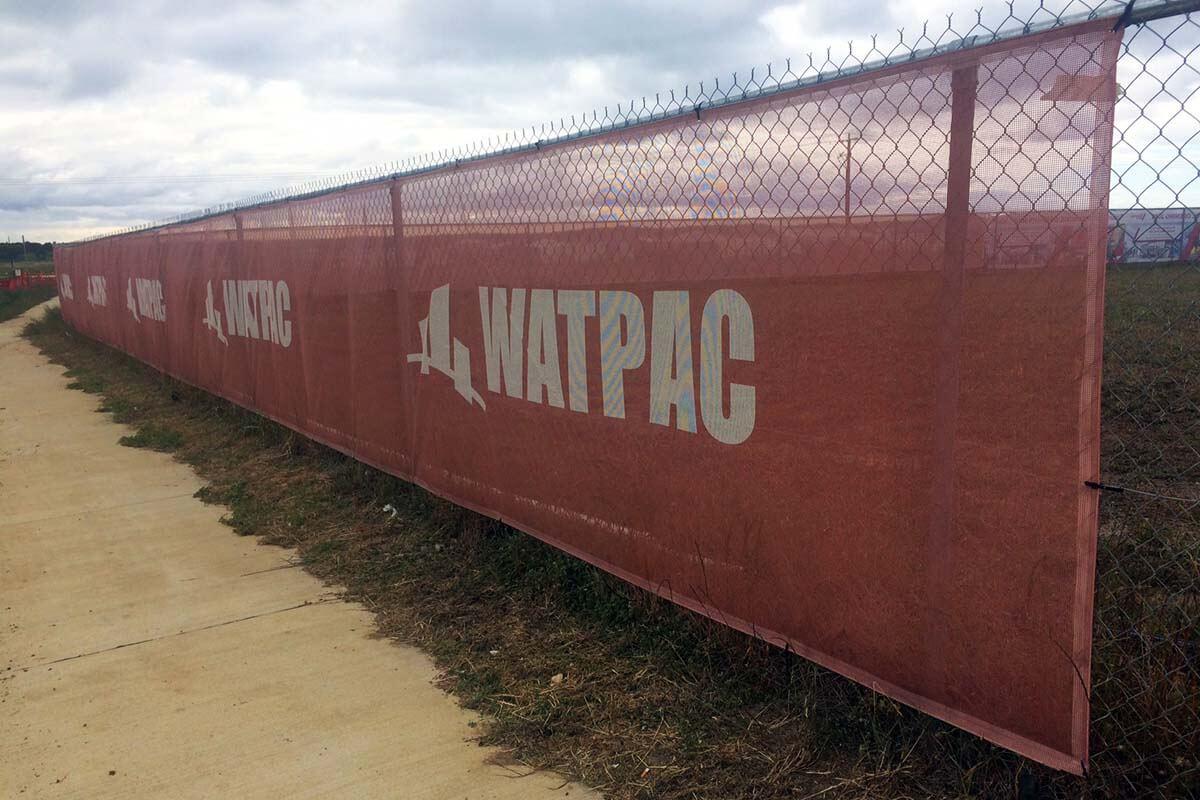 Finish Installing Fence Wrap