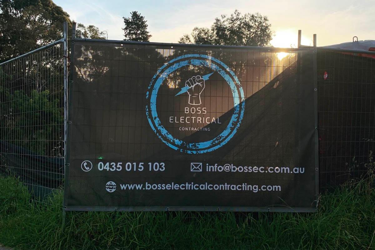 Boss Electrical Full Colour Mesh Banner