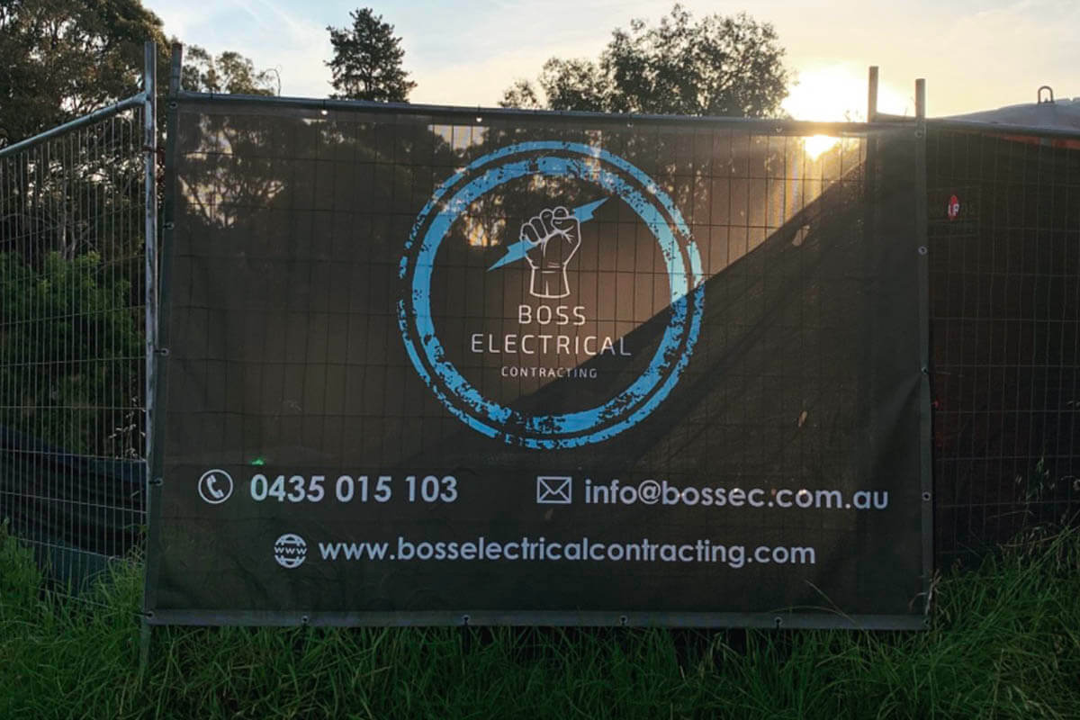 Boss Electrical Shade Cloth For Construction Fencing