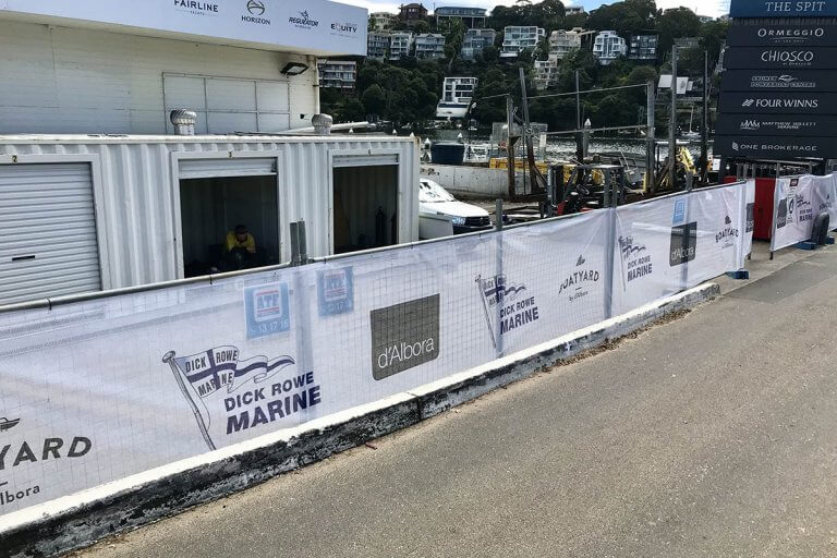 Branded Breezemax Fence Banners