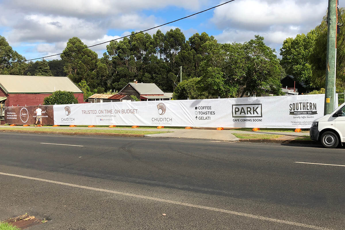 Chuditch Design And Construction Shade Cloth Banner