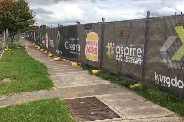 Custom Breezemax Fence Banner