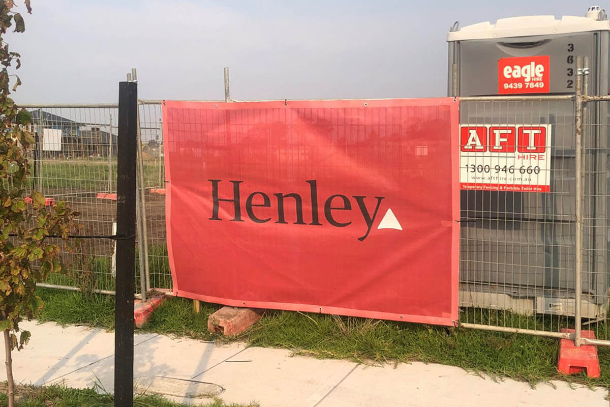 Henley Printed Construction Mesh Banner