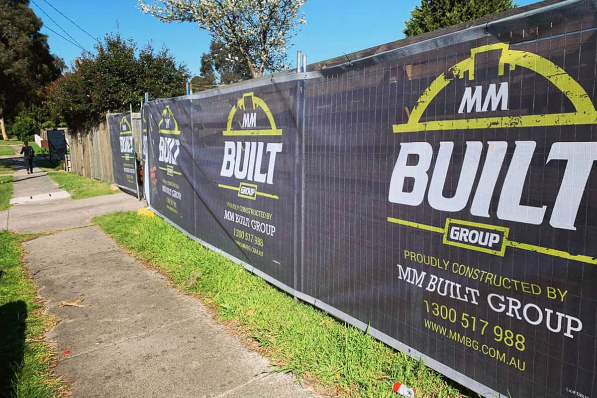MM Built Group Building Fence Wrap