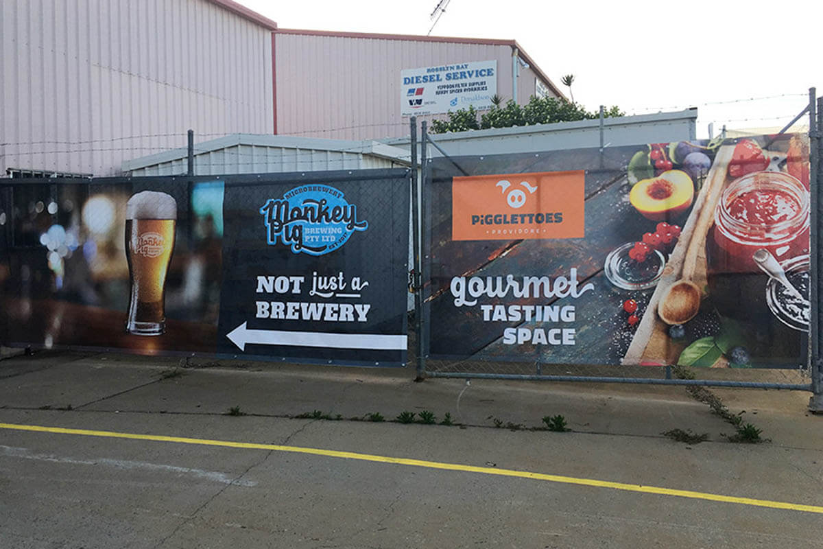 Monkey Pig Brewery Printed Mesh For Fencing