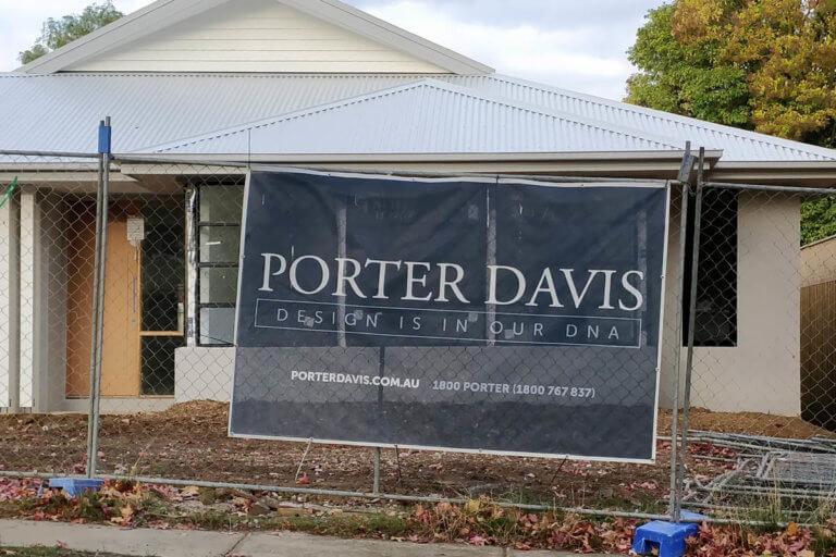 Porter Davis Construction Mesh Banner