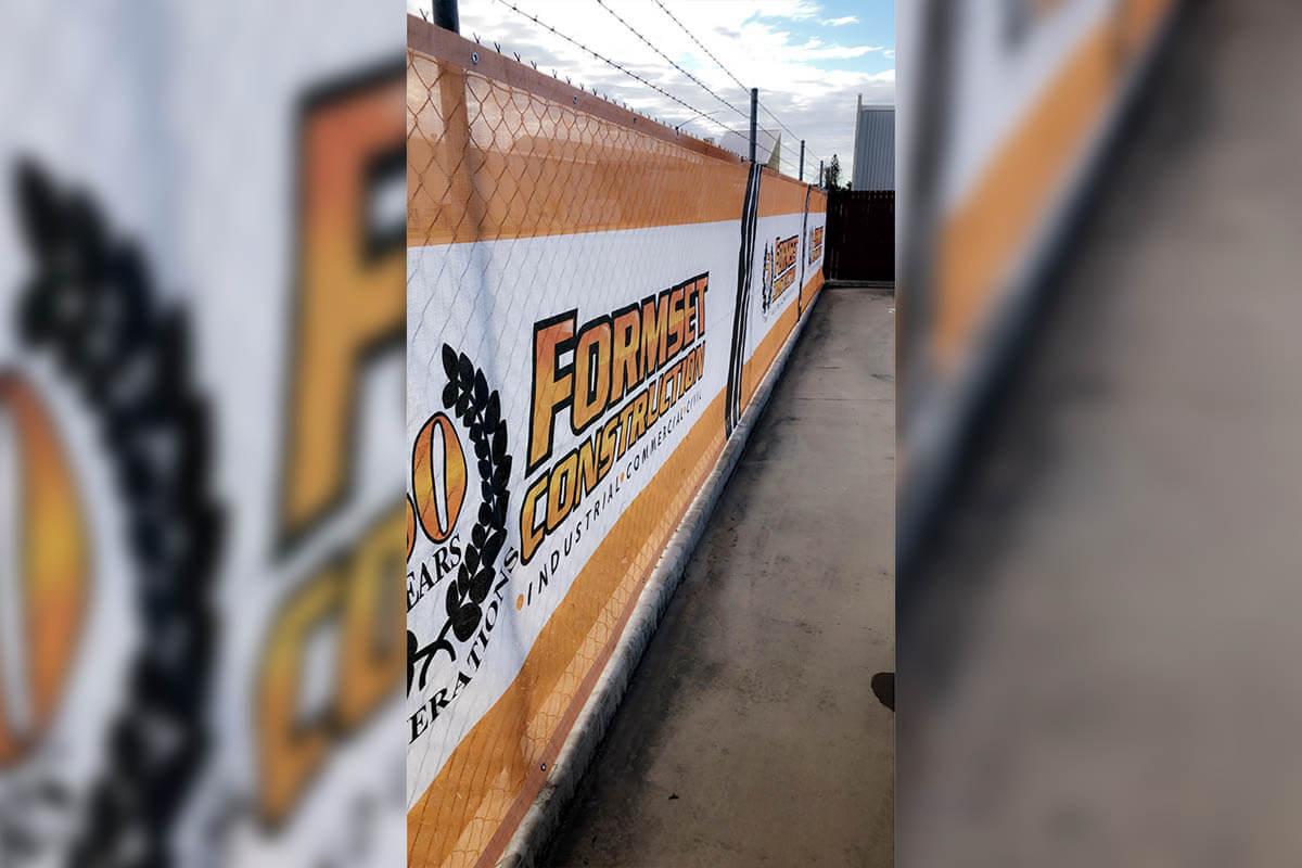Printed Formset Fence Banner Mesh