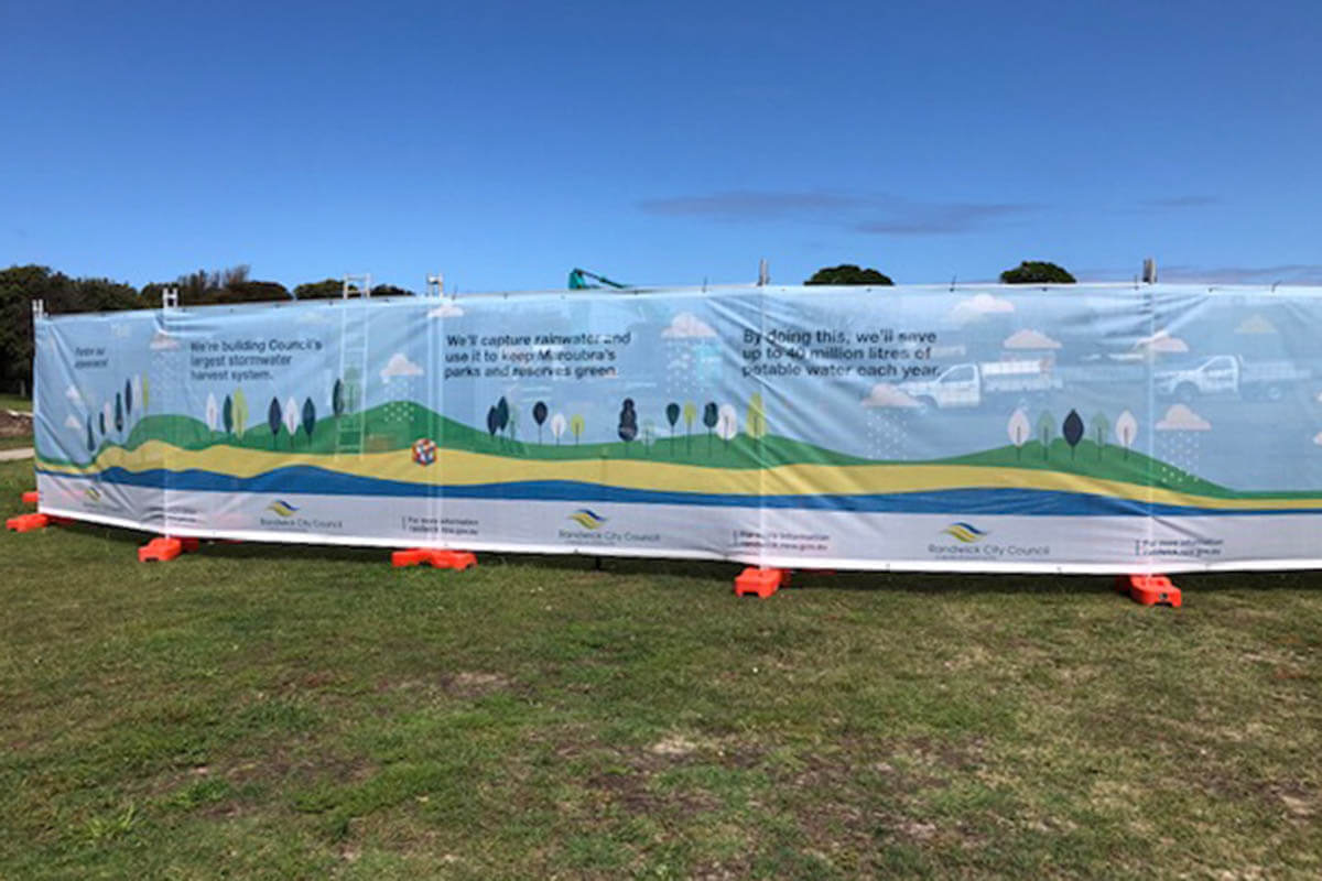 Printed Mesh For Fencing Randwick City Council