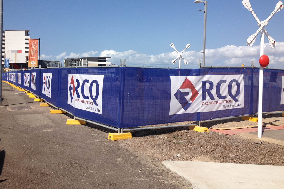 RCQ Constructions Building Fence Wrap