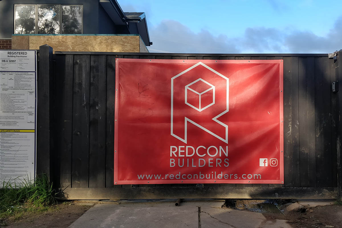 RedCon Builders Printed Construction Mesh Banner