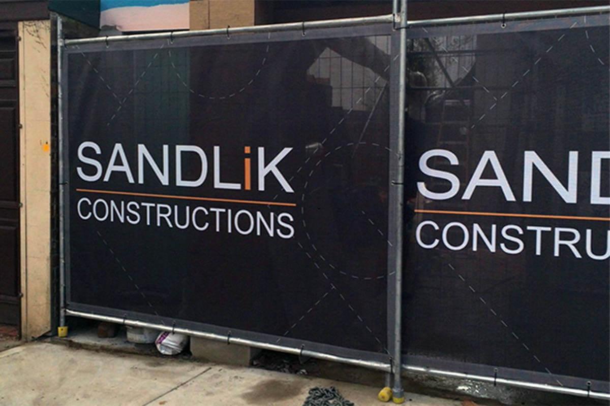 Sandlik Construction Mesh Banner Printed