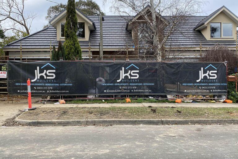 Shade Cloth For Fence Advertising JKS Builders