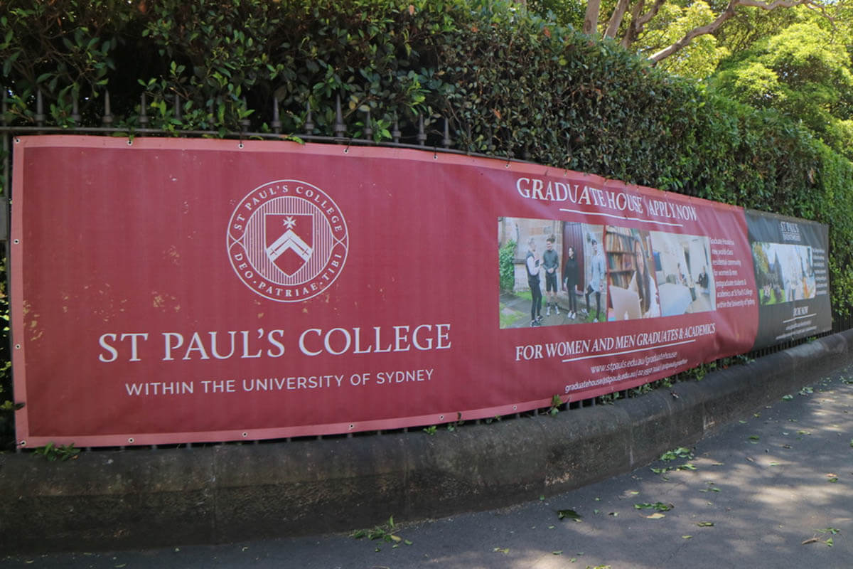 St Pauls College Shade Cloth Banner