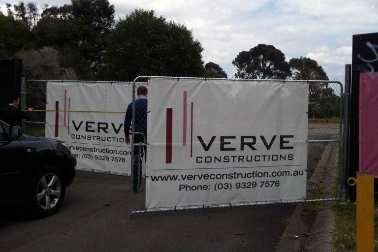 Verve Constructions Mesh Cloth Banners